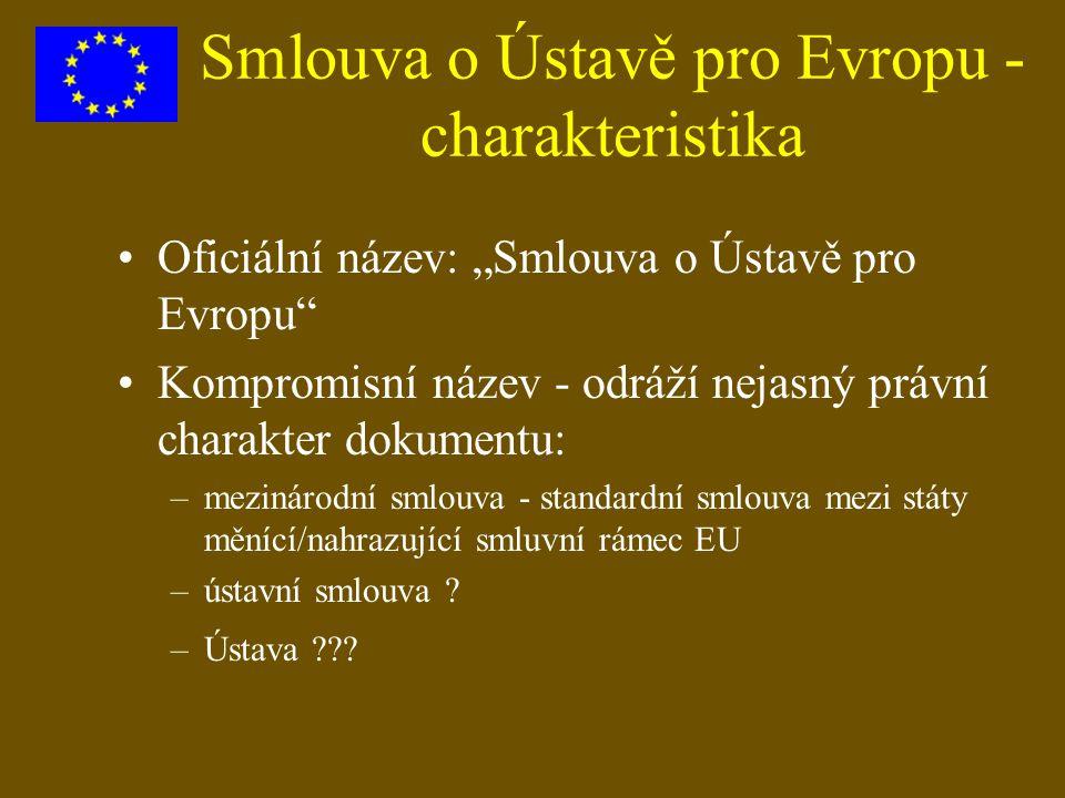 Smlouva o Ústavě pro Evropu - charakteristika