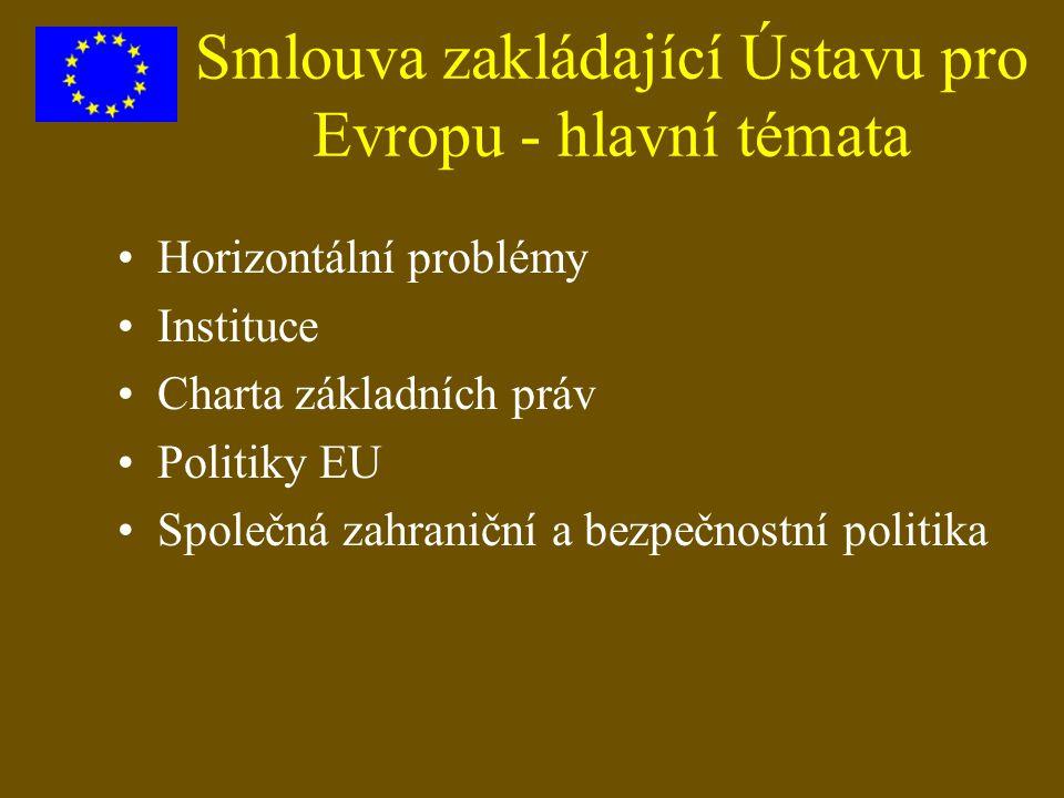 Smlouva zakládající Ústavu pro Evropu - hlavní témata