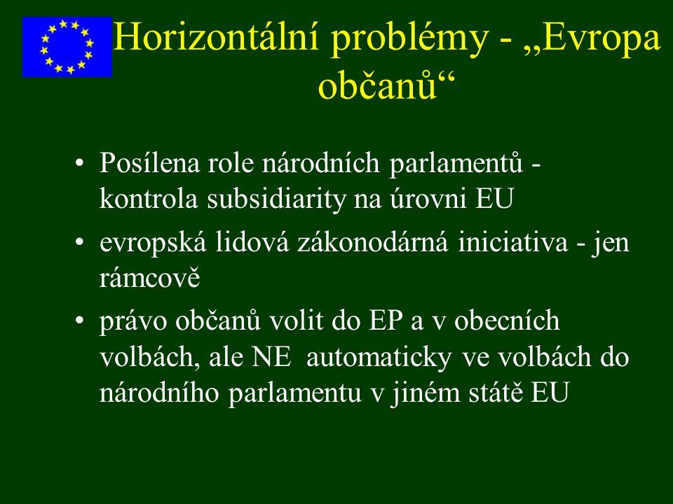 """Horizontální problémy - """"Evropa občanů"""