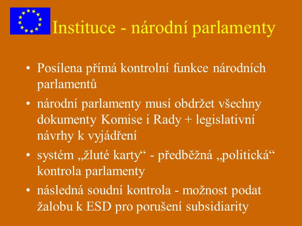 Instituce - národní parlamenty