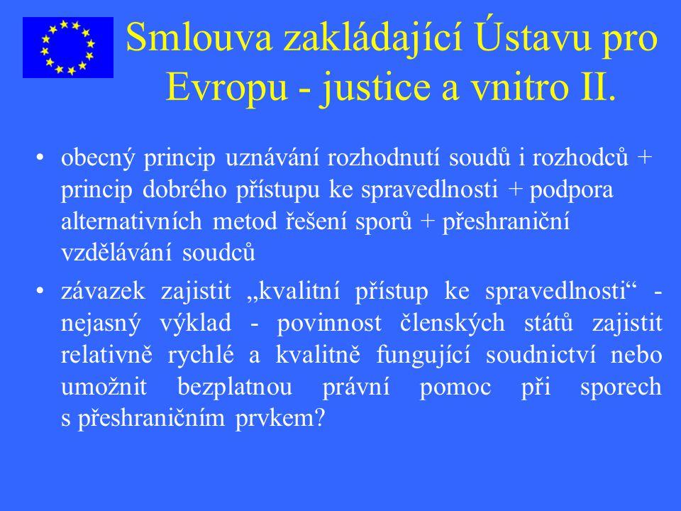 Smlouva zakládající Ústavu pro Evropu - justice a vnitro II.