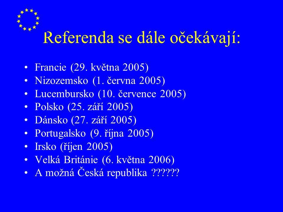 Referenda se dále očekávají: