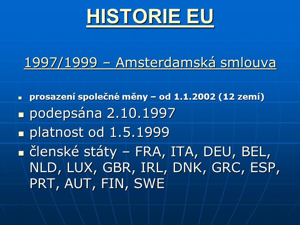 1997/1999 – Amsterdamská smlouva