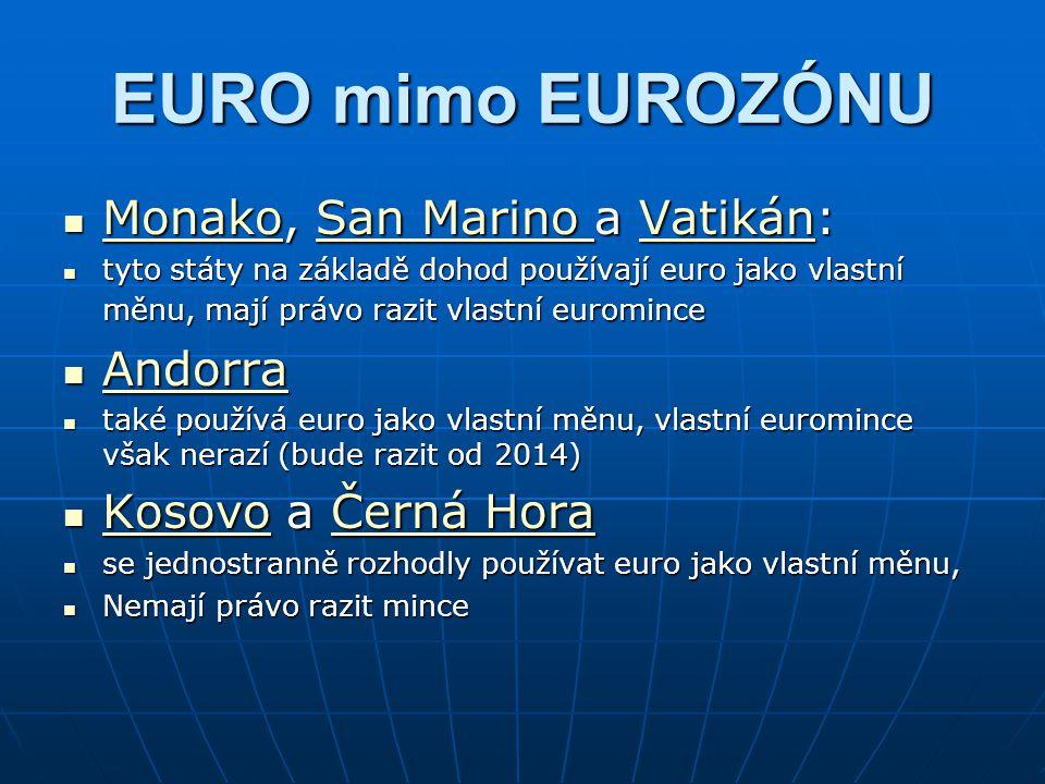 EURO mimo EUROZÓNU Monako, San Marino a Vatikán: Andorra