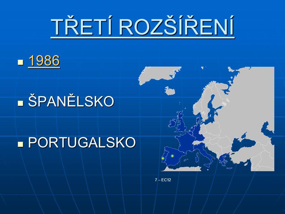 TŘETÍ ROZŠÍŘENÍ 1986 ŠPANĚLSKO PORTUGALSKO 7 – EC12