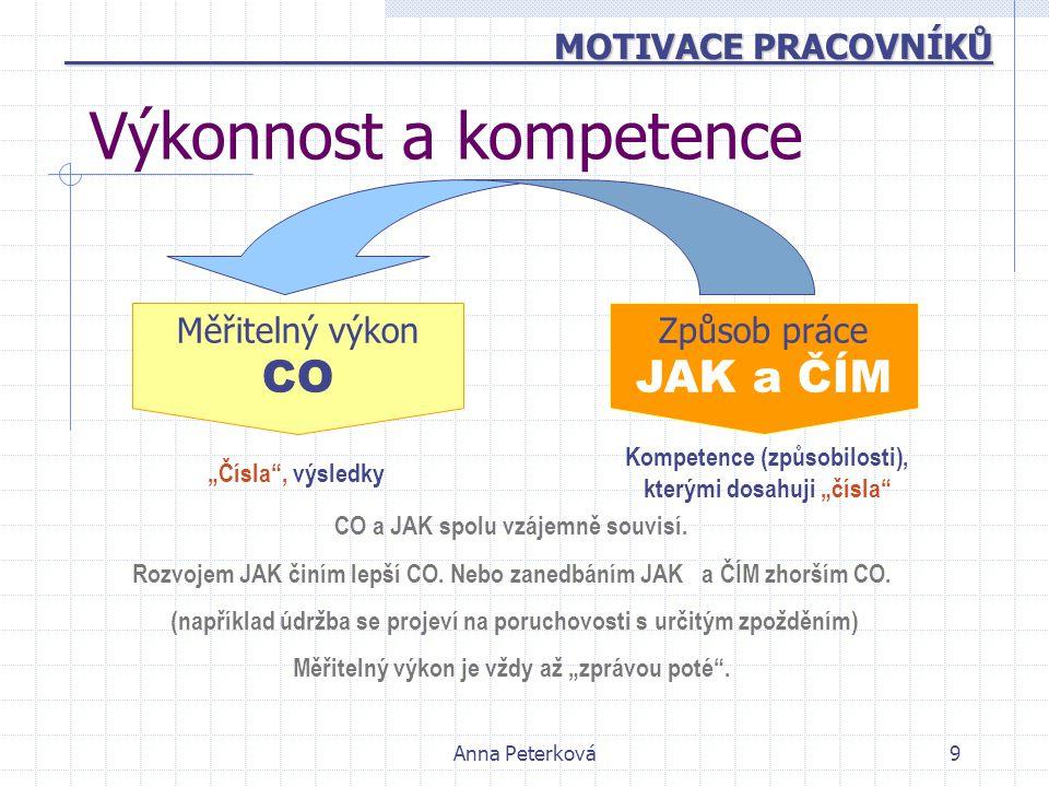 Výkonnost a kompetence