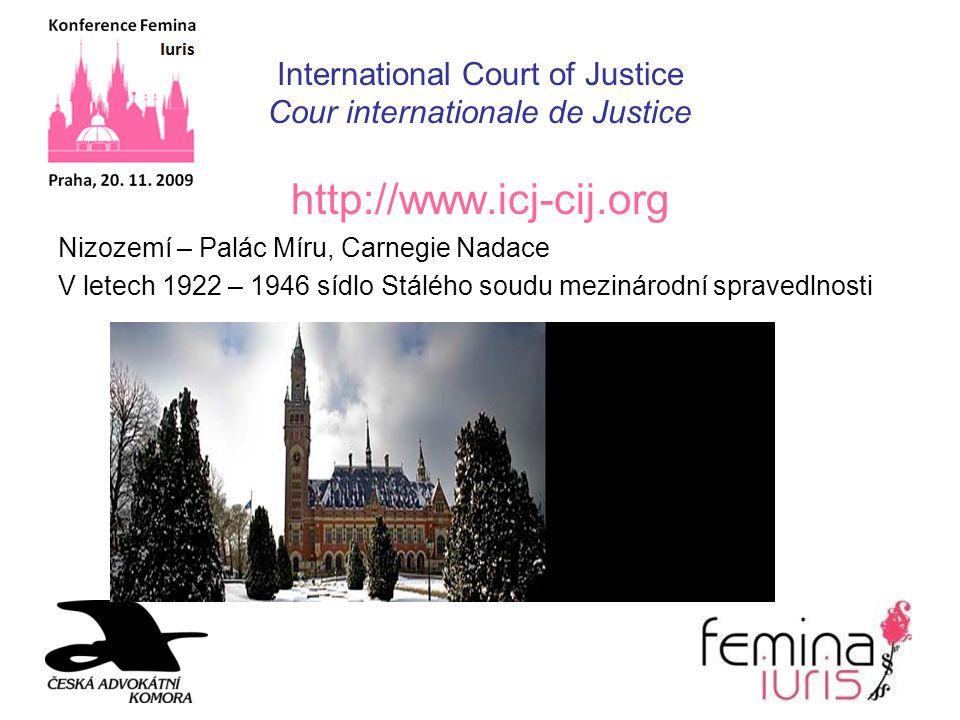 International Court of Justice Cour internationale de Justice