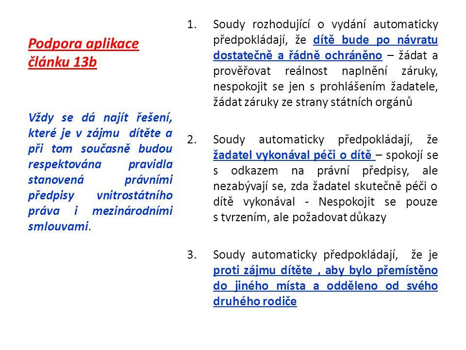 Podpora aplikace článku 13b