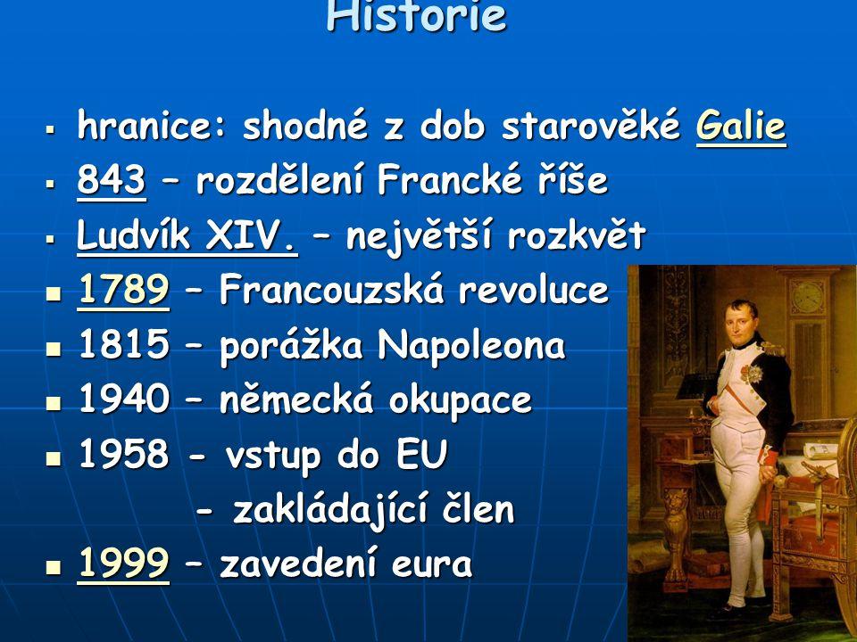 Historie hranice: shodné z dob starověké Galie