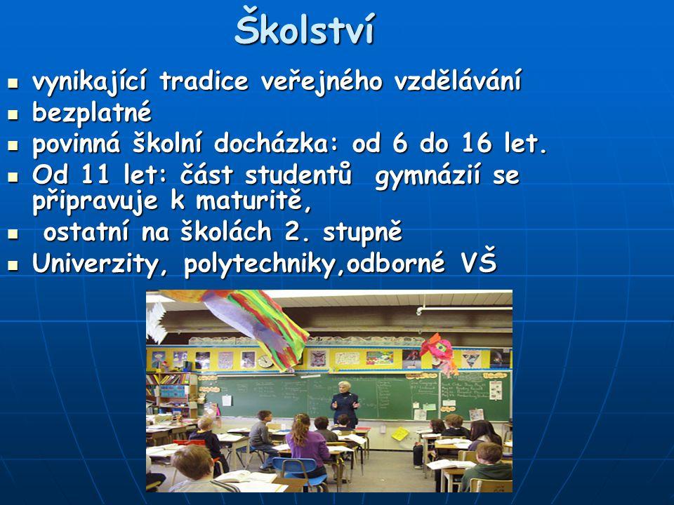 Školství vynikající tradice veřejného vzdělávání bezplatné