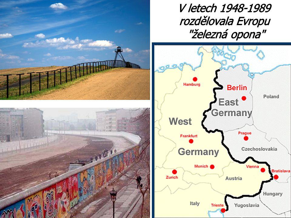 V letech 1948-1989 rozdělovala Evropu železná opona