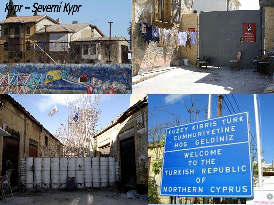 Kypr – Severní Kypr Green line (Zelená linie) rozdělující Kypr