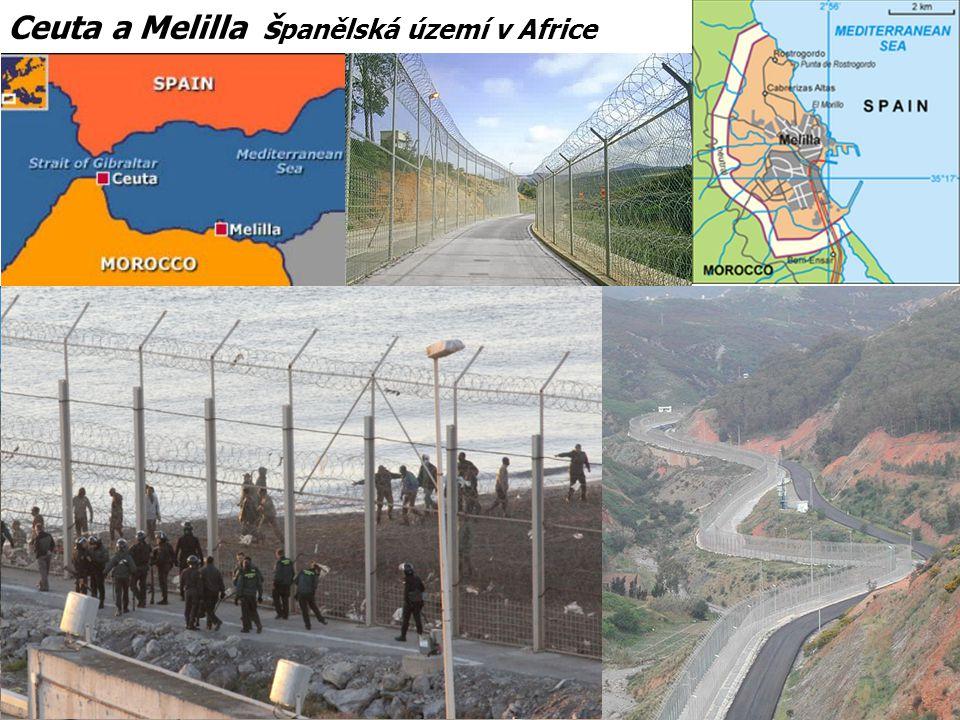 Ceuta a Melilla španělská území v Africe