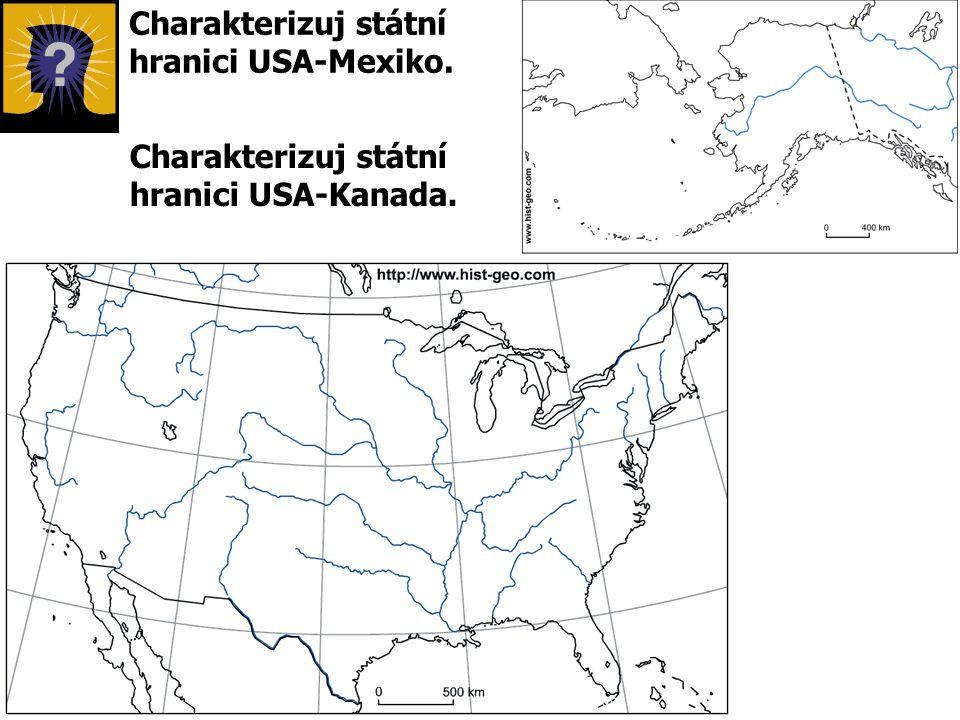 Charakterizuj státní hranici USA-Mexiko.