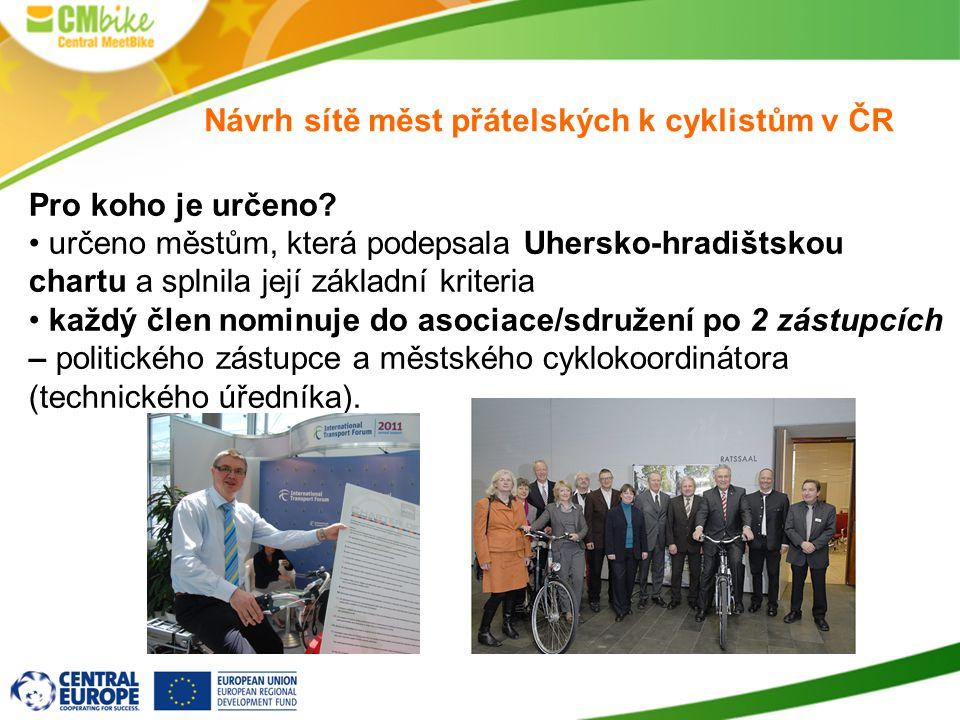 Návrh sítě měst přátelských k cyklistům v ČR