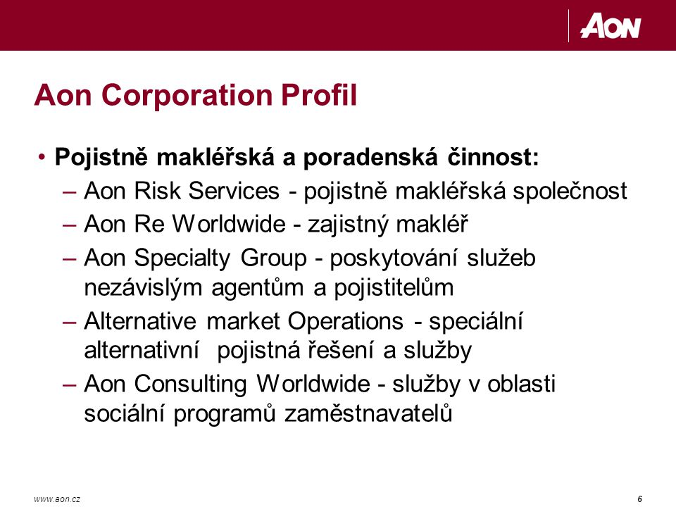 Aon Corporation Profil