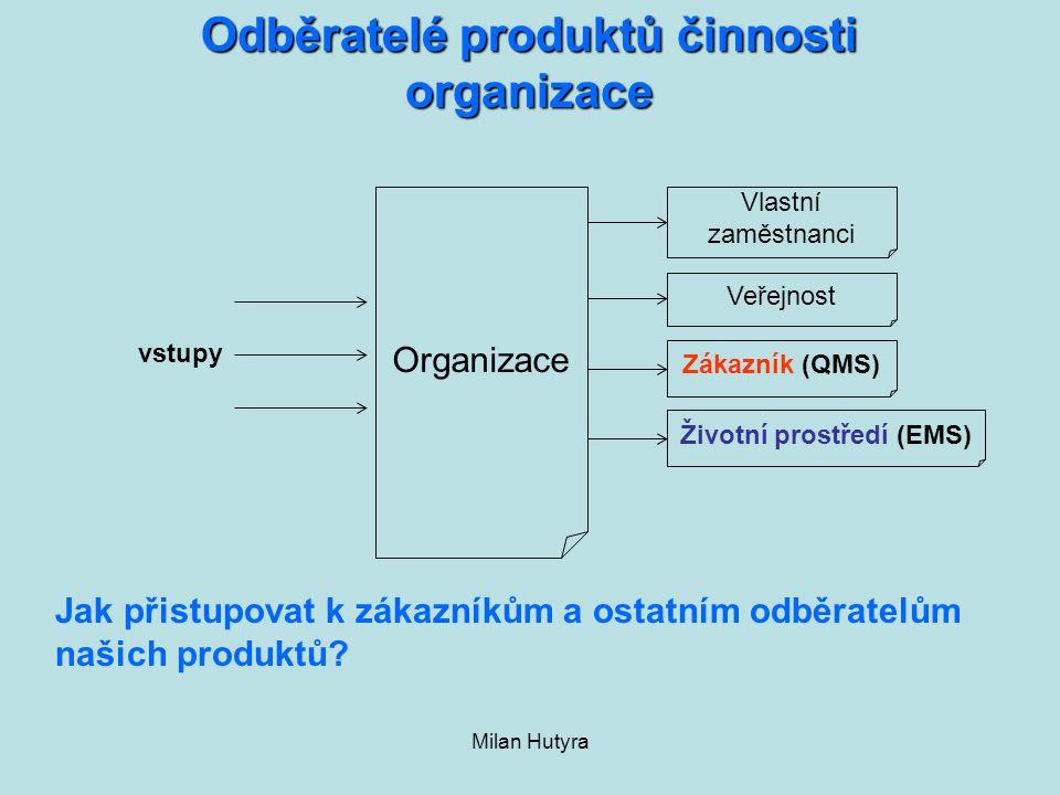 Odběratelé produktů činnosti organizace