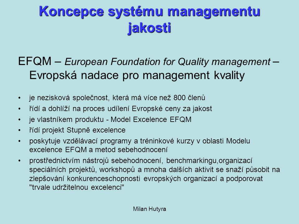 Koncepce systému managementu jakosti