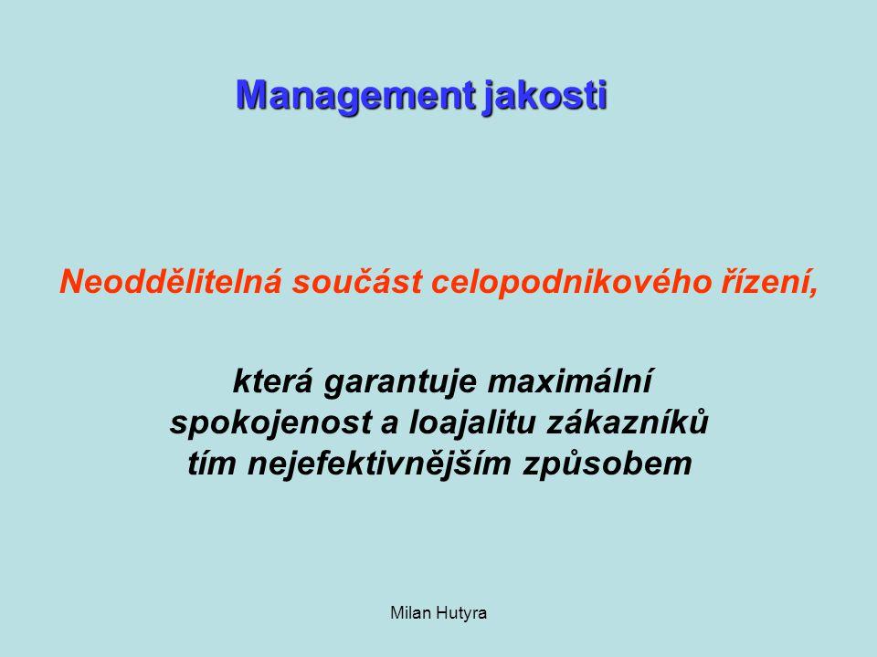 Management jakosti Neoddělitelná součást celopodnikového řízení,