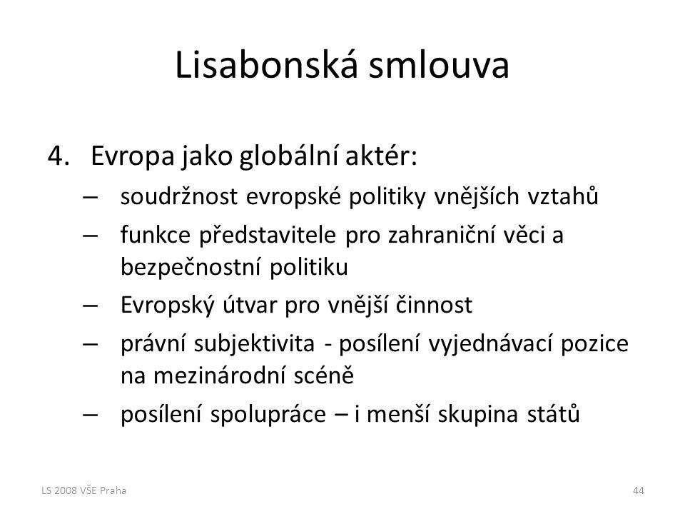 Lisabonská smlouva Evropa jako globální aktér: