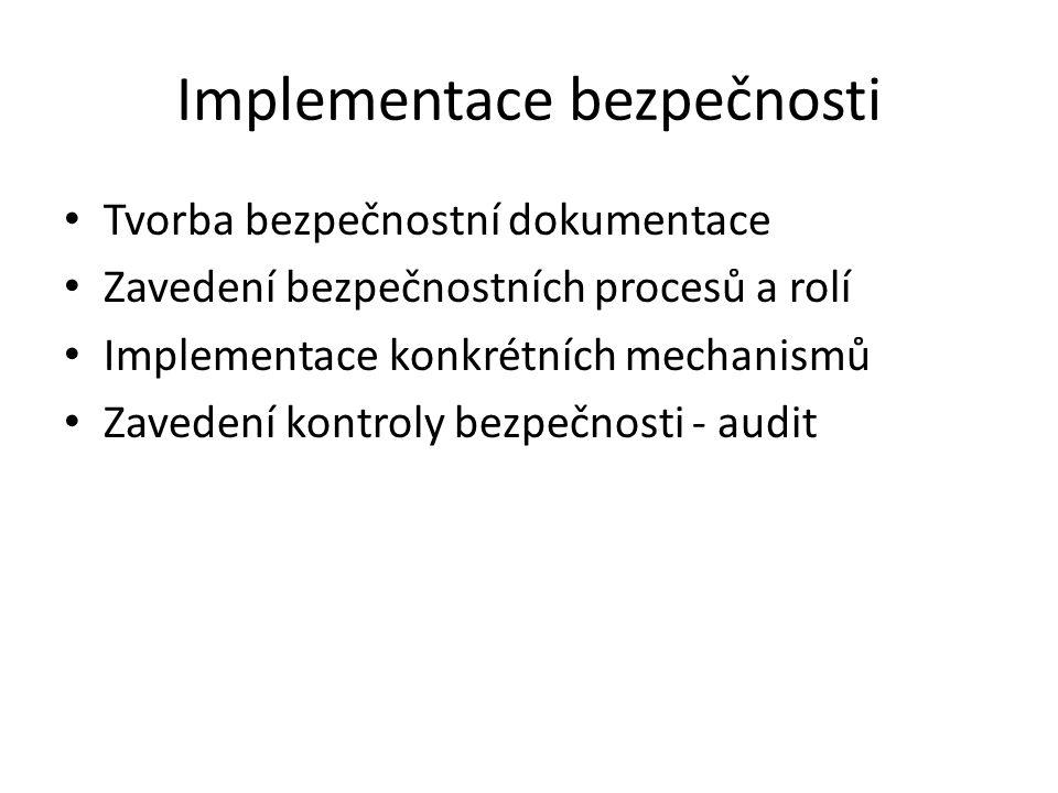 Implementace bezpečnosti