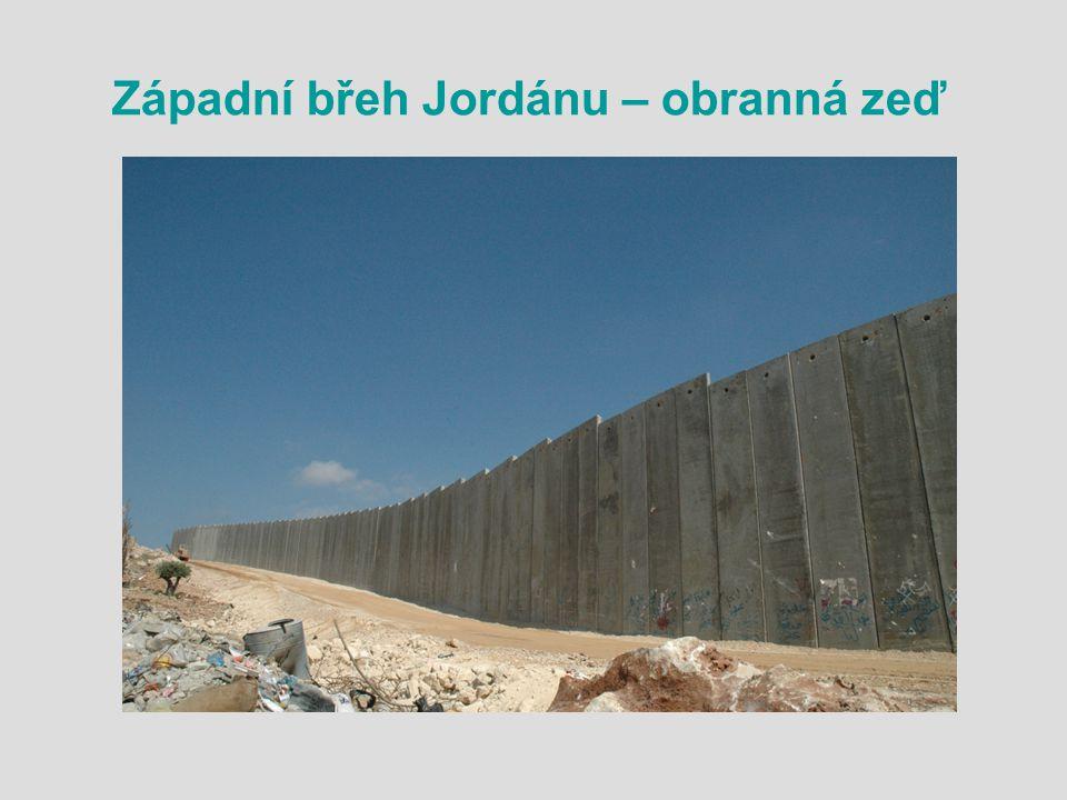 Západní břeh Jordánu – obranná zeď