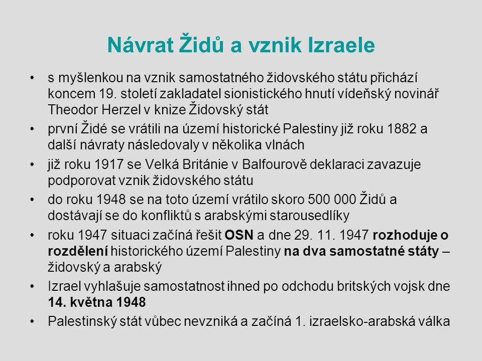 Návrat Židů a vznik Izraele