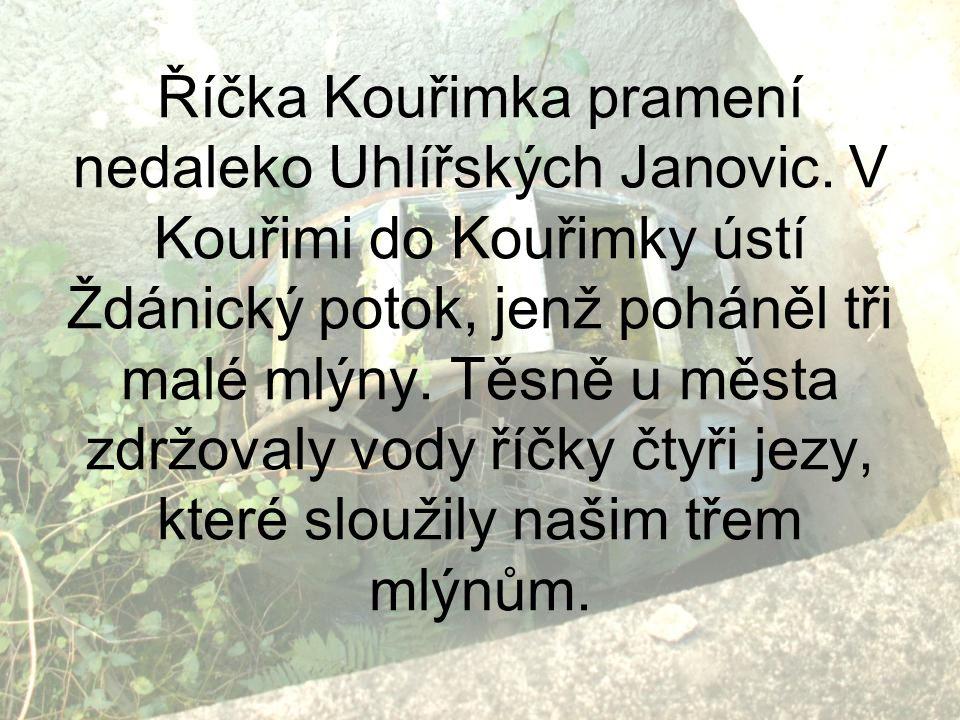 Říčka Kouřimka pramení nedaleko Uhlířských Janovic