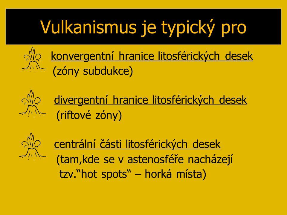 Vulkanismus je typický pro