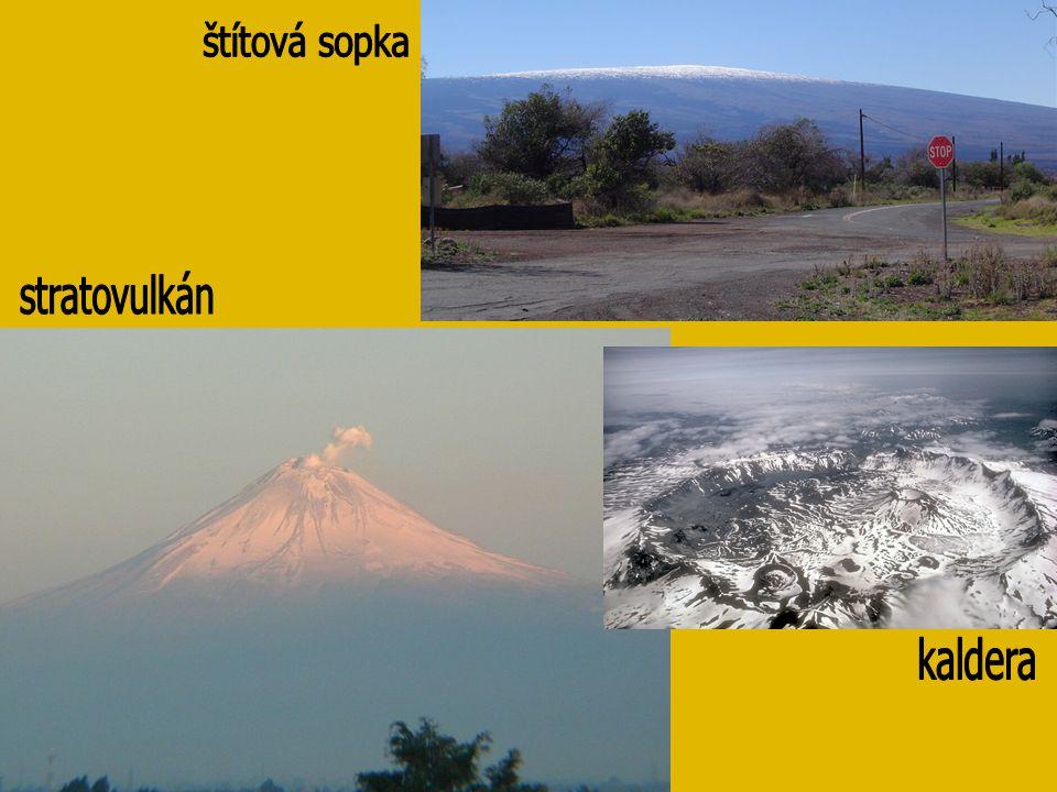 štítová sopka stratovulkán kaldera