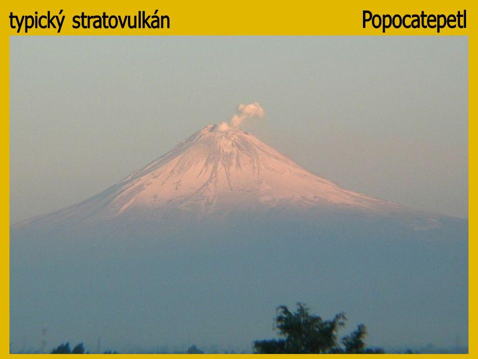 typický stratovulkán Popocatepetl