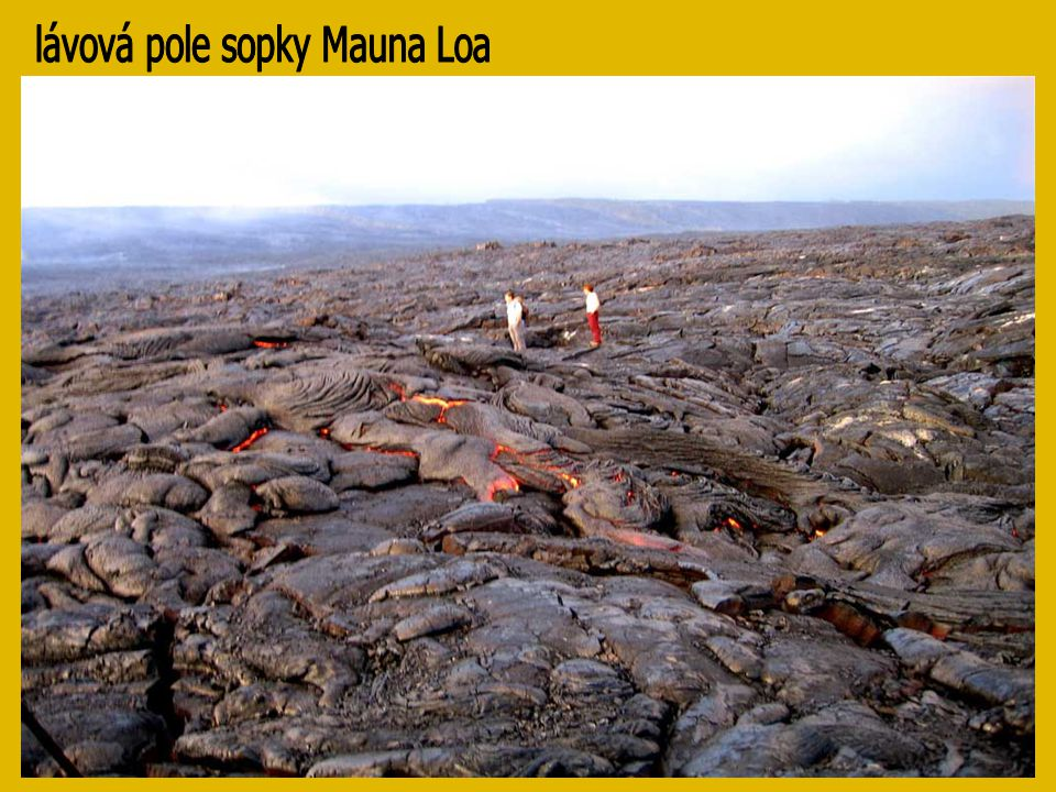 lávová pole sopky Mauna Loa