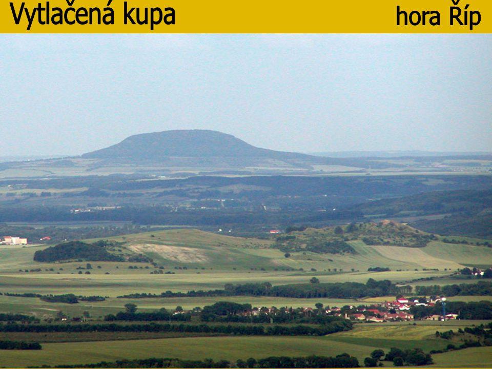 Vytlačená kupa hora Říp