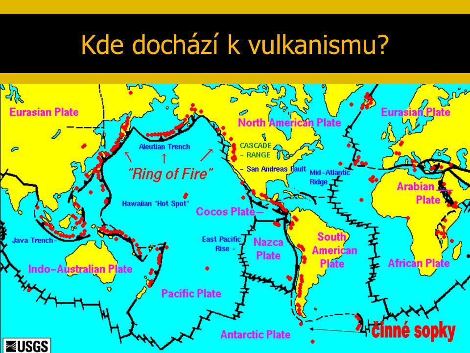 Kde dochází k vulkanismu