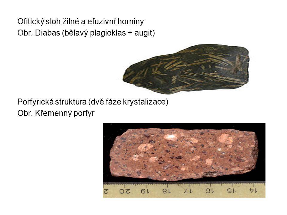 Ofitický sloh žilné a efuzivní horniny