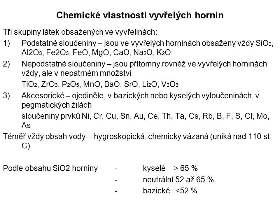 Chemické vlastnosti vyvřelých hornin
