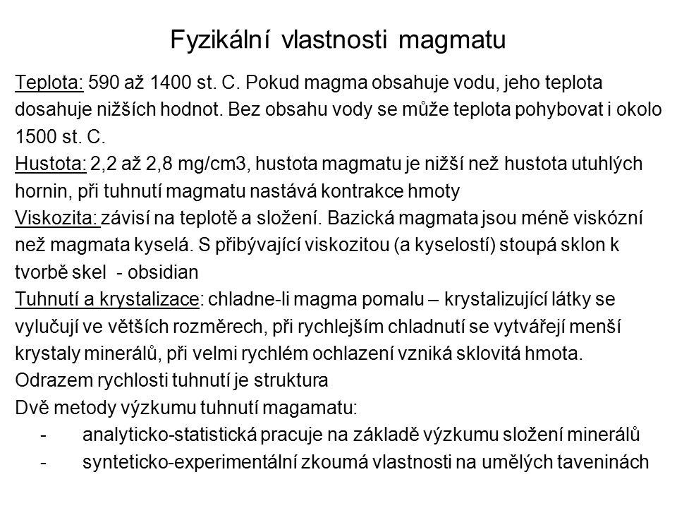 Fyzikální vlastnosti magmatu