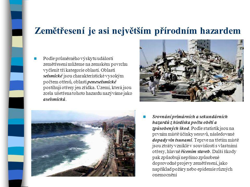 Zemětřesení je asi největším přírodním hazardem