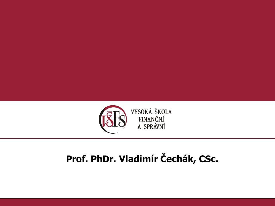 Prof. PhDr. Vladimír Čechák, CSc.