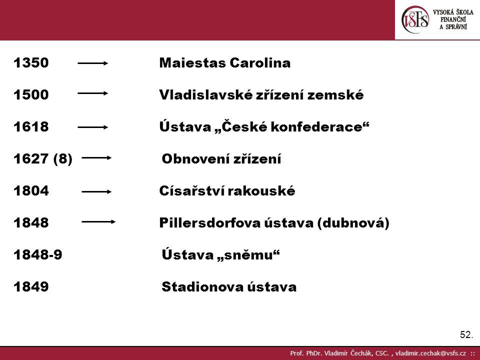 """Vladislavské zřízení zemské Ústava """"České konfederace"""
