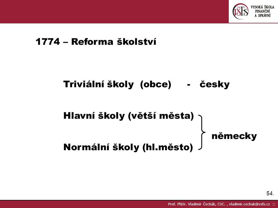 Triviální školy (obce) - česky