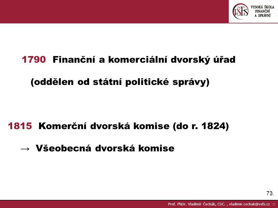 1790 Finanční a komerciální dvorský úřad