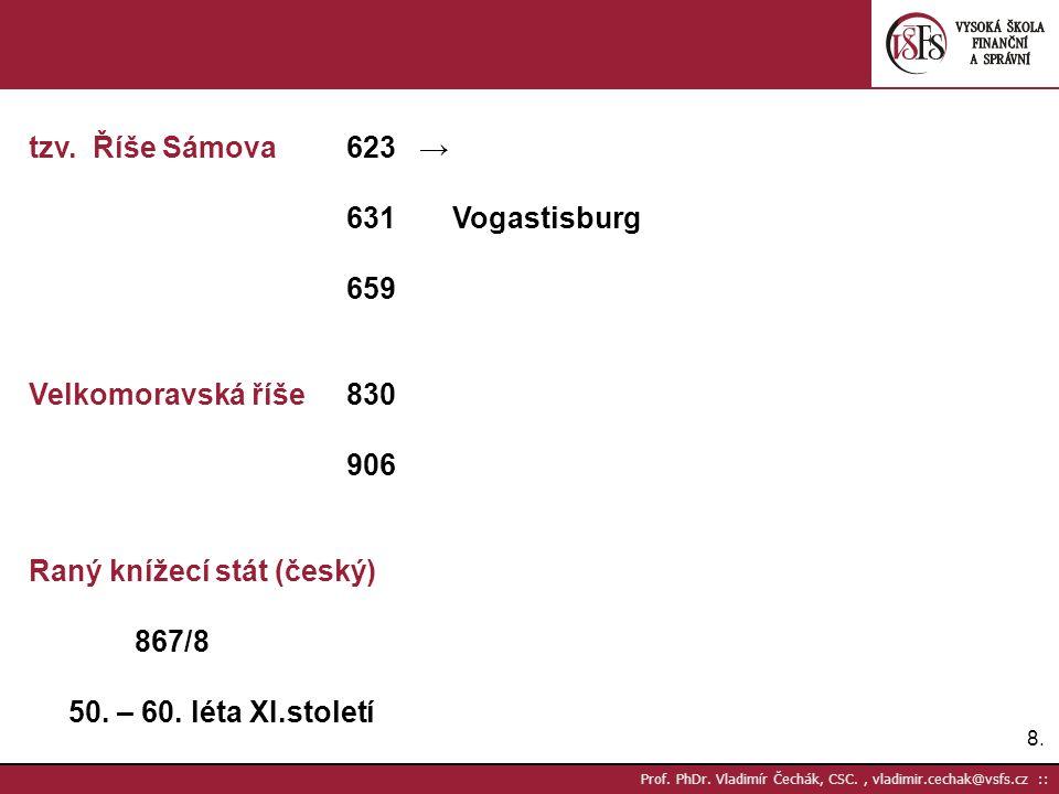 Raný knížecí stát (český) 867/8 50. – 60. léta XI.století