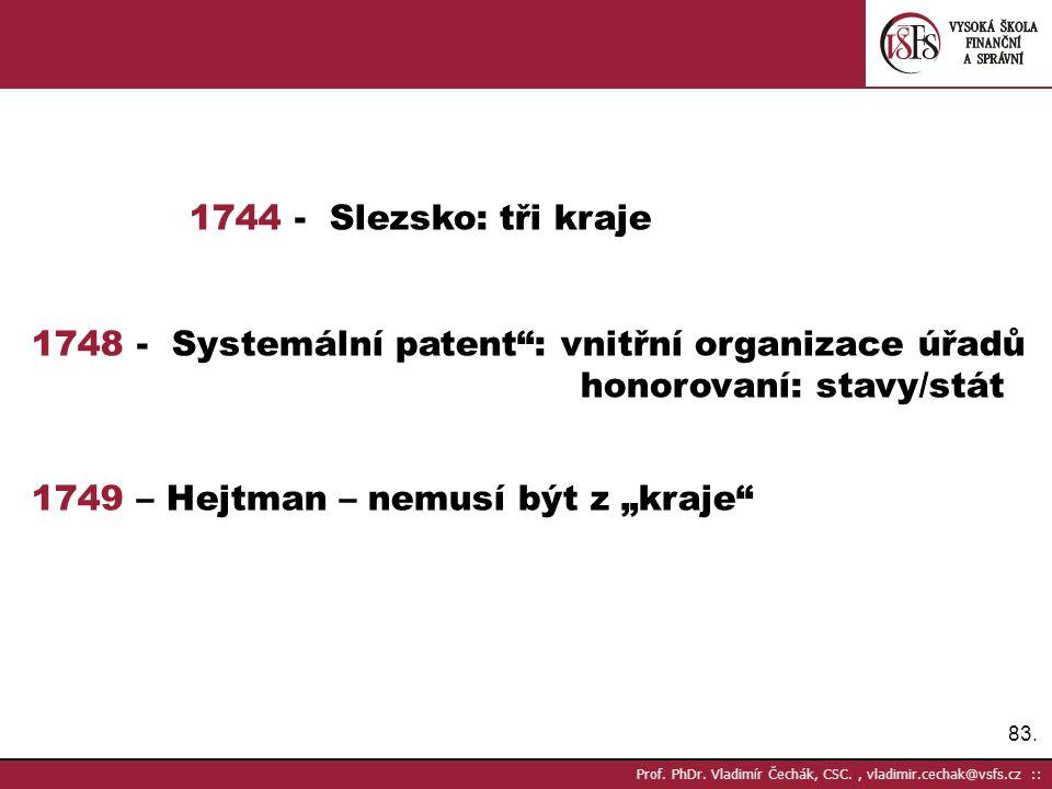 1748 - Systemální patent : vnitřní organizace úřadů