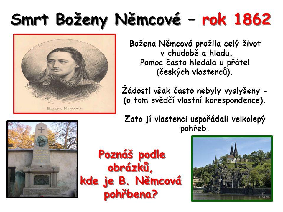 Smrt Boženy Němcové – rok 1862