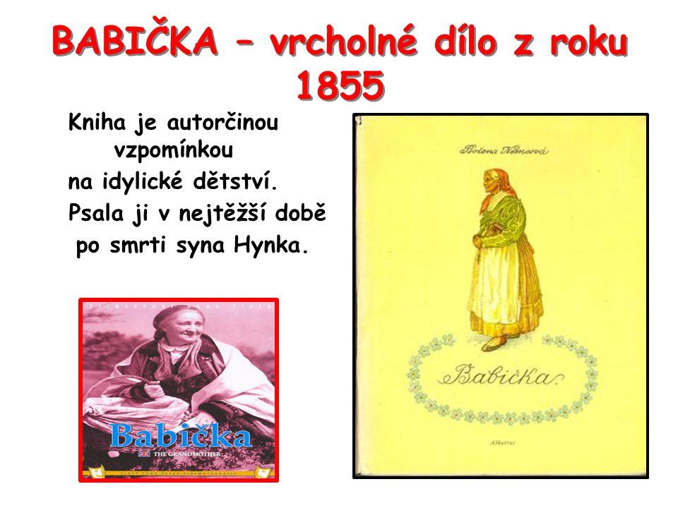 BABIČKA – vrcholné dílo z roku 1855