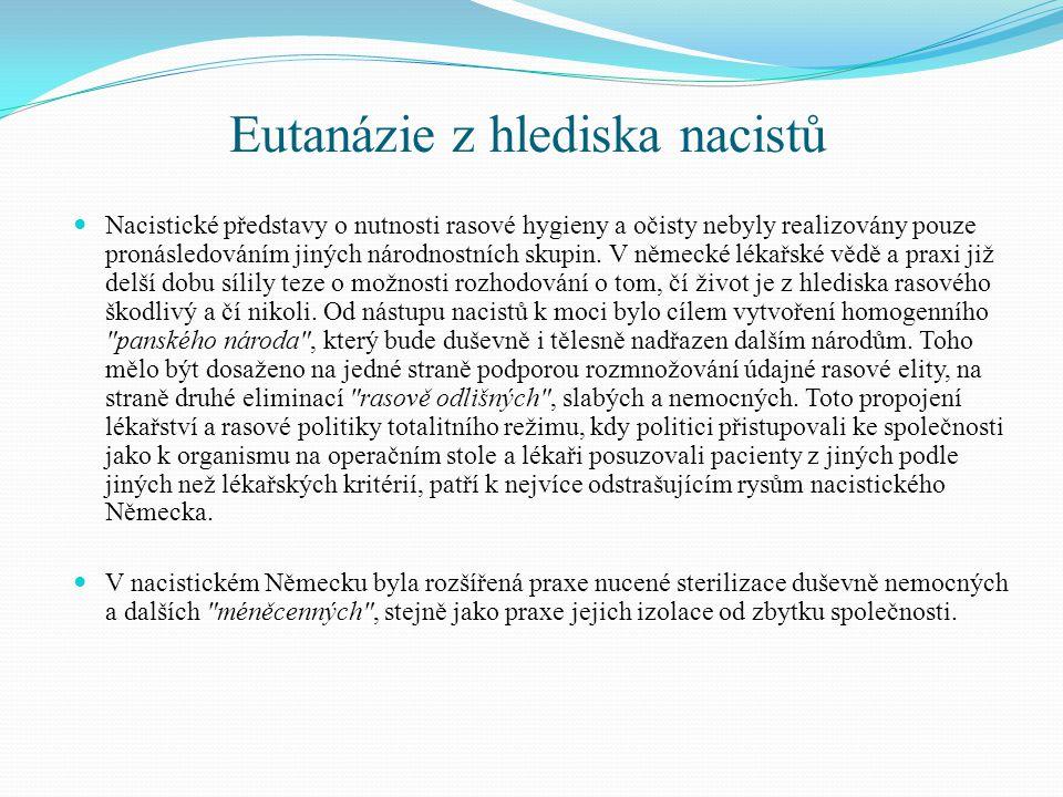 Eutanázie z hlediska nacistů