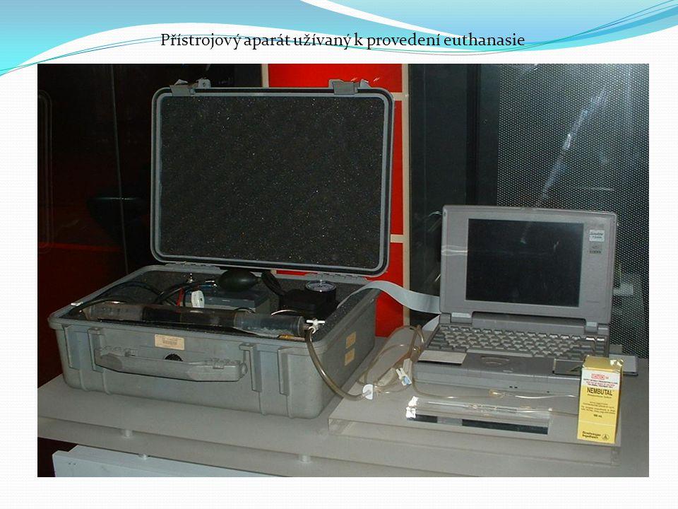 Přístrojový aparát užívaný k provedení euthanasie