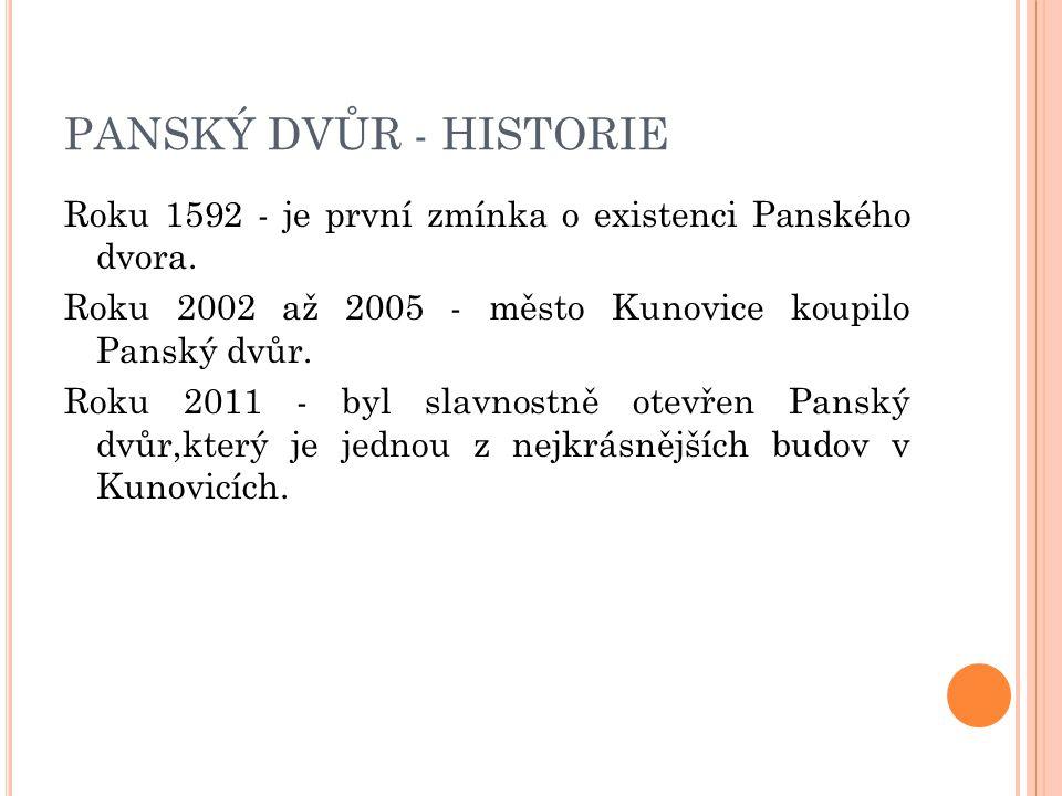 PANSKÝ DVŮR - HISTORIE