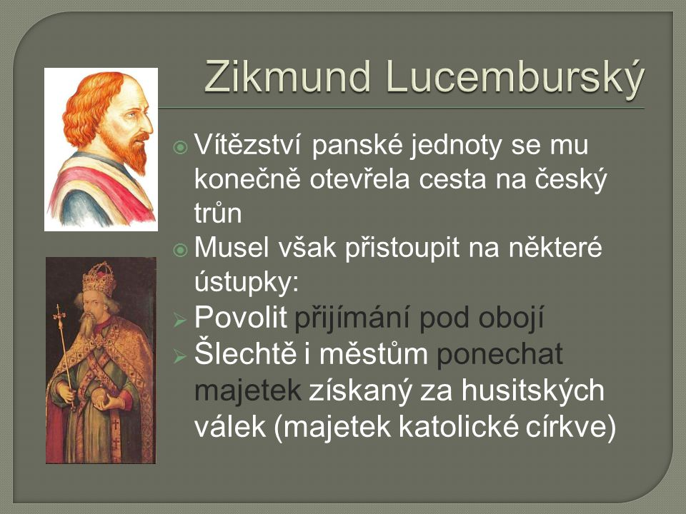 Zikmund Lucemburský Povolit přijímání pod obojí